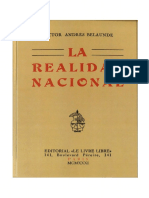 La Realidad Nacional Peruana (París, 1931) - Víctor Andrés Belaunde