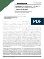 Un Enfoque Administrativo en Sociedades Científicas Estudiantiles