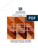 Evaluacion Educativa Educ. a Distancia