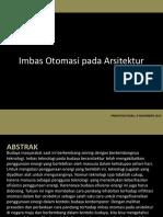 Imbas Otomasi Pada Arsitektur