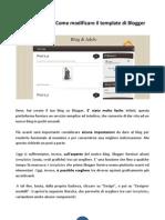 Creare Un Blog - Come Modificare Il Template Di Blogger
