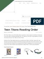 Teen Titans Reading Order _ DC Comics Timeline _ Comic Book Herald