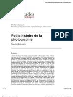Benjamin-Petite Histoire de La Photographie