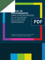 Manual Procedimientos Incorporacion de La Igualdad en La Gestion rial
