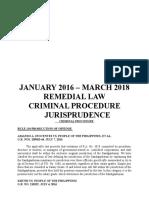 Crim Pro Jurisprudence 2016-2018