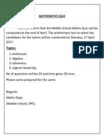 Math Quiz  (2)
