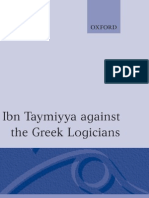 Ibn Taymiyya Against the Logicians