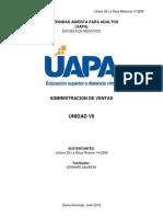 Unidad VII Administracion de Ventas Juliana de La Rosa