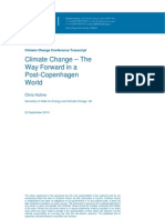 Climate Change – The Way Forward in a Post-Copenhagen World