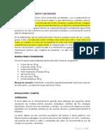 Descripcion Del Producto y Del Proceso Salchichas