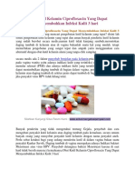 Obat Kutil Kelamin Ciprofloxacin Yang Dapat Menyembuhkan Infeksi Kulit 3 Hari