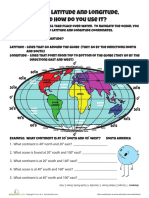 Worksheet Globe