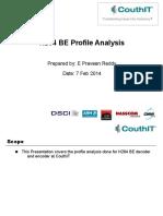 H264 Profile Analysis