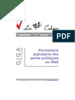 Mali. Perceptions Populaires Des Partis Politiques Au Mali - Greatmali.net, 2008.01-03