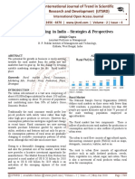"Rural Marketing in India '"" Strategies & Perspectives"