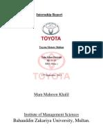 Taha TOYOTA Internship Report (Autosaved)