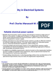 1. Exercises on Reliability in Electrical Systems