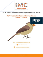 IMCPrintable Montessori Nomenclature Parts of Birds