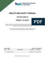 Dhi-ehs-hsm-031 Permit to Work Rev0