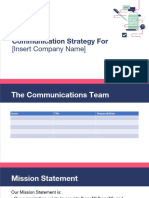 Communications Plan Template