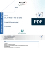 Unidad 2 Normatividad_actividades Desarrollo Sustentable