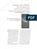 A Recepção Como Método de Investigação Da Comunicação e Cultura