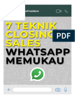 7 Teknik Closing Sales Whatsapp Memukau
