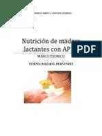 Nutrición de madres lactantes con APLV