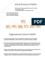 Organisational Structure of Netflix