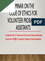 Seminar Code of Ethics