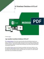 2 Cara Mudah Membuat Database Di Excel Dengan Tabel