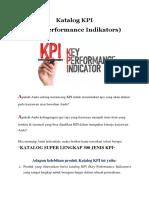 Katalog KPI