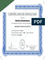 Certificado Introdução à Ciência de Dados 2.0