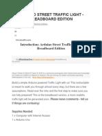 Arduino Street Traffic Light