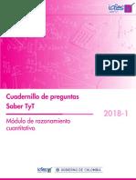 Cuadernillo de Preguntas Razonamiento Saber Tyt 2018-1