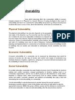 Types of Vulnerabilty