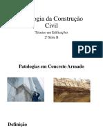 Patologia Da Construção Civil Slide