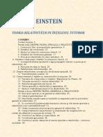 Albert Einstein - Teoria Relativitatii Pe Intelesul Tuturor