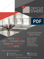 Off Cut Shades Newsletter August