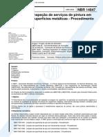 NBR - 14847 - 2002 - Inspecao de Servicos de Pintura Em Superficies Metalicas - Procedimento.pdf