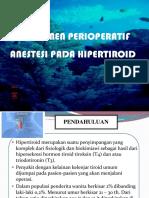 Managemen Perioperatif Anestesi Pada Hipertiroid