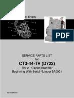 CT3-44-TV Carrier Partes Motor
