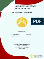 Proposal Pengajuan KP PT Indaco Warna Dunia