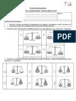 Prueba de Matemática 1º Basico