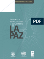 Linea de Base Productiva del Departamento de La Paz