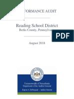 Reading School District 2018 audit