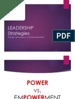4 - Power, Advocacy, Empowerment