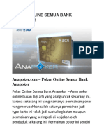 Poker Online Semua Bank Anapoker