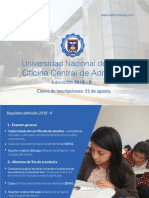 Admisión UNP 2018-2