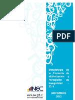 Metodologia ENVIPI 2011(Oficial)
